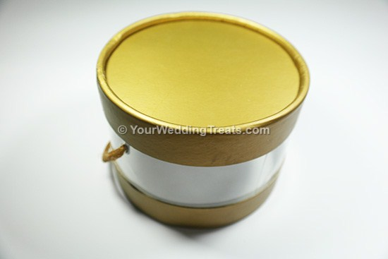 circular transparent favor box