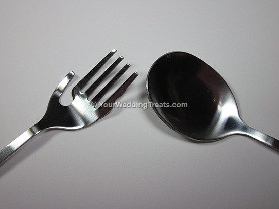 fork and spoon heart series pink box