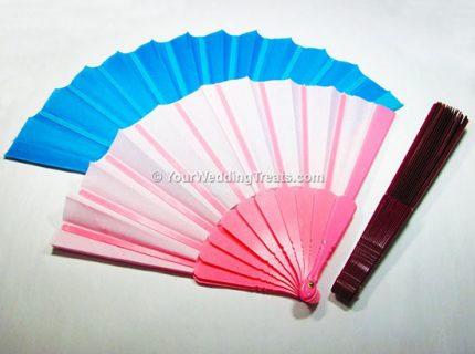 hand fan different colors