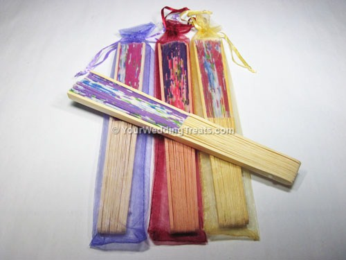 hand fans with multi color jackets