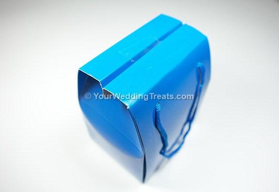 blue mini foldable paper bag