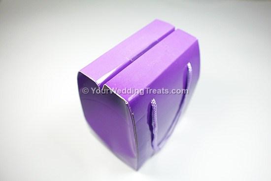 purple mini foldable paper bag