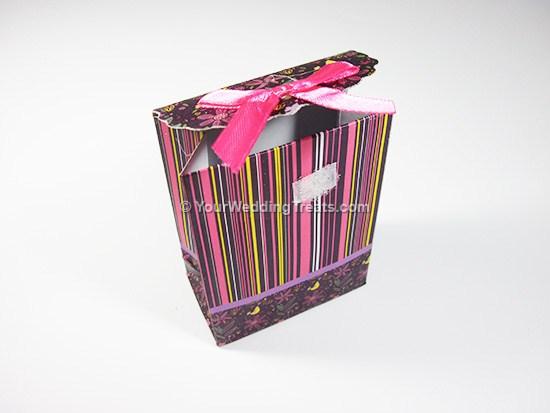 striped mini paper bag