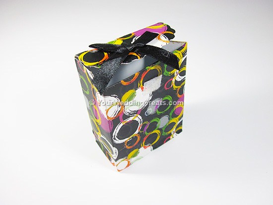 mini paper bag with circles