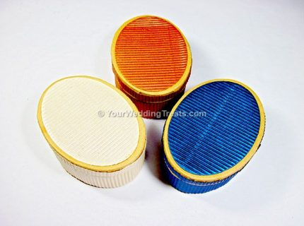 oval shaped cardboard favor boxes