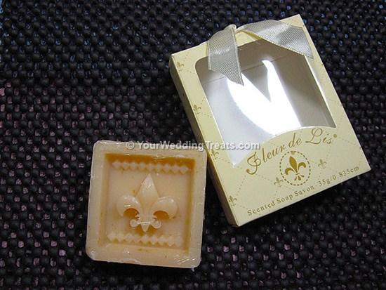 scented fleur de lis gift soap