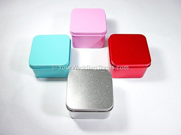 aluminum square favor boxes