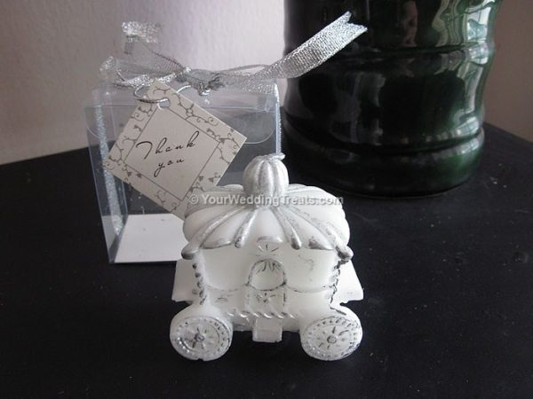 bridal carriage wedding gift candle