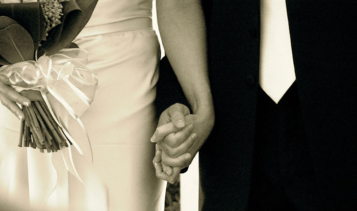 holding hands in marriage