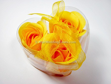 yellow scented floral gift hand soap
