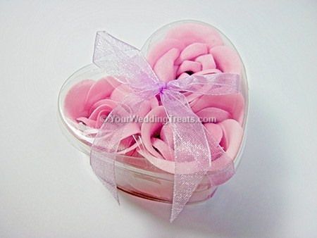 pastel pink scented floral gift hand soap