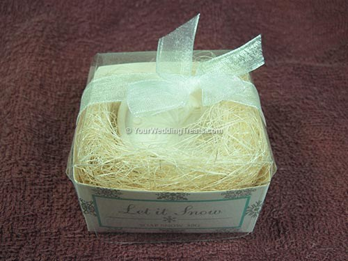 snow flake gift hand soap