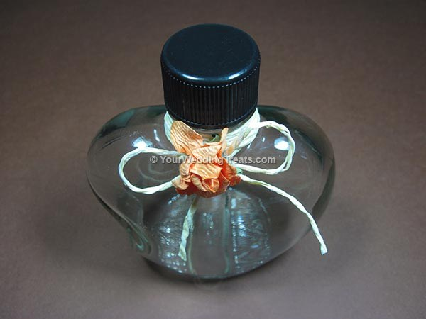 wedding favor glass bottle