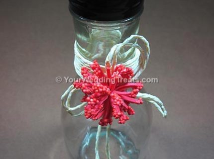 wedding favor long glass bottle