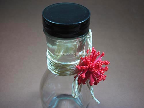 wedding favor long glass bottle