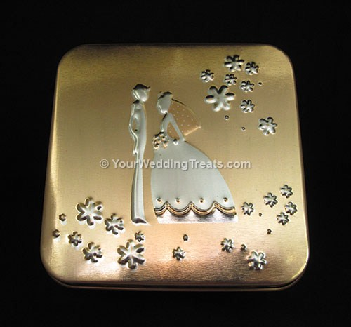 aluminum gift box gold color