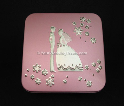 aluminum gift box light purple color
