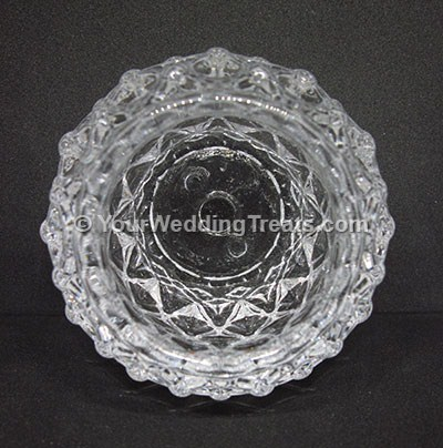 glass candle holder top view