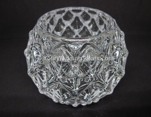 glass candle holder pineapple design