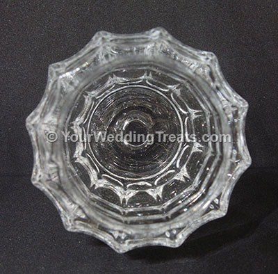 glass candle design top view