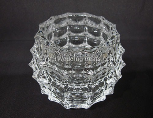 glass candle holder square design